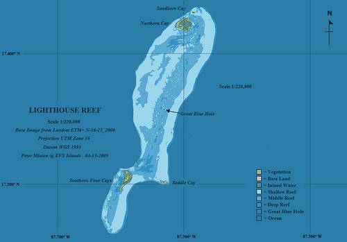 Belize atoll Great blue hole