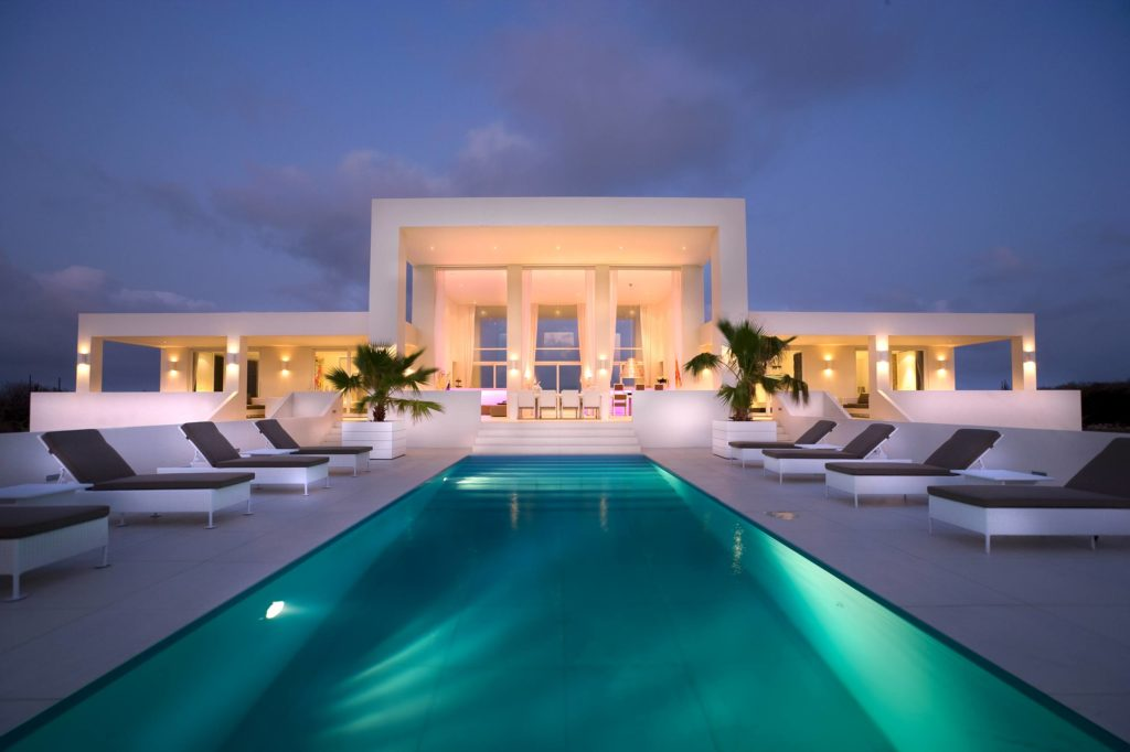 Luxury villa for Caribbean vacation.