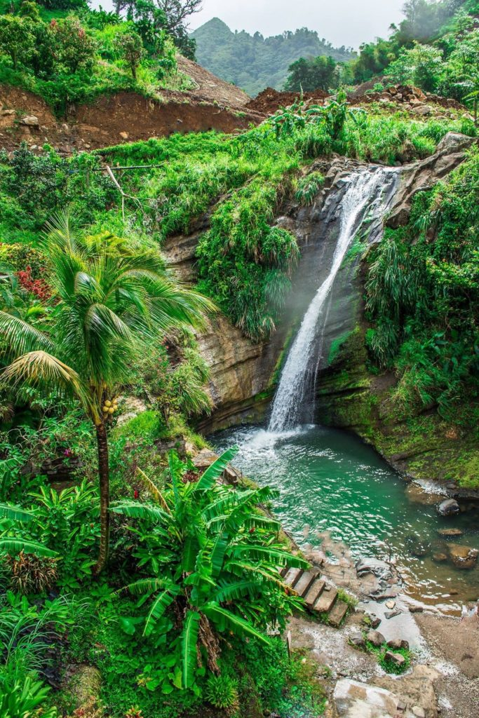 The most gorgeous waterfalls in the Caribbean.