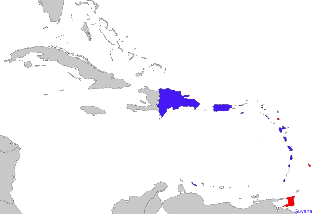 Destinations covered by LIAT.