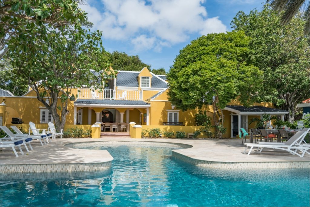 A rental villa in Willemstad, Curacao.