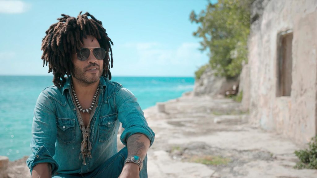 Kravitz owns a private island in the Caribbean.