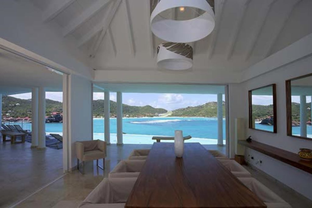 A luxury villa in St. Barths.