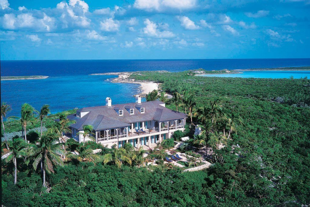 Celebrity beach houses in the Caribbean.