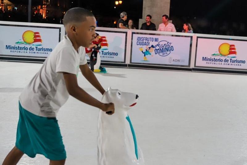 कैरेबियन में आइस स्केटिंग.