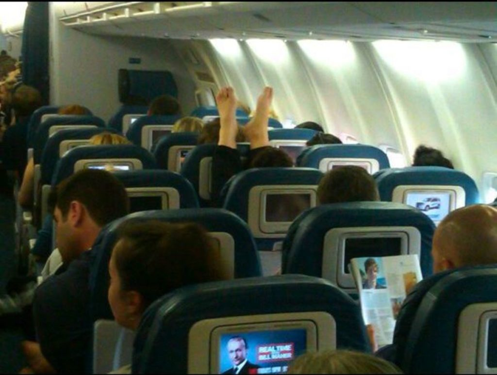 Airplane etiquette is important.
