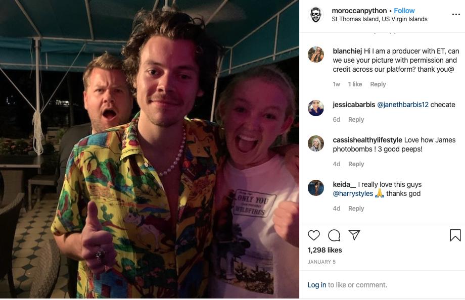 Harry Styles Caribbean tip.