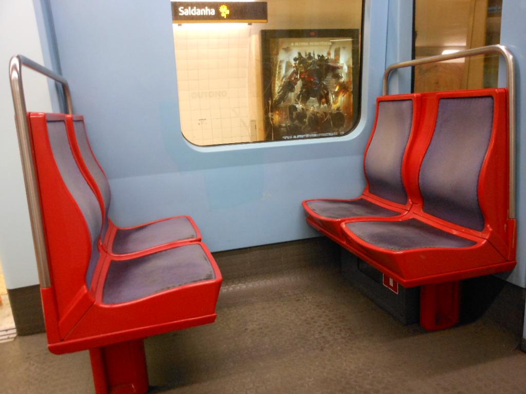Motion sickness on subway.
